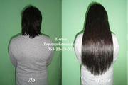 Наращивание волос (холодное и горячее).