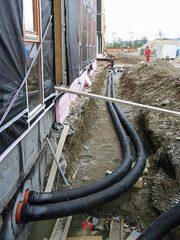 Прокладка трубопроводов для кабельных сетей