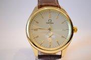 Престижные мужские наручные часы Omega Big White Gold,  гарантия