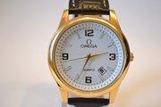 Качественные мужские наручные часы Omega Quartz (White Gold), гарантия
