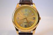 Качественные мужские часы Omega Quartz (Gold), гарантия
