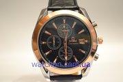 Качественные мужские наручные часы Omega Seamaster (Black), гарантия