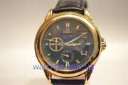 Элитные мужские наручные часы Omega Skeleton (Black Gold), гарантия