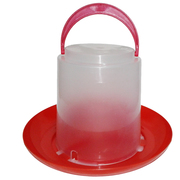 Вакуумные пластиковые поилки 3,  5 и 8 л. для птицы
