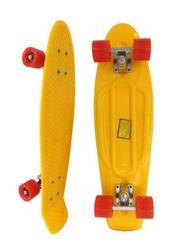 Скейт Longboard Penny 28 желтый с красными колесами