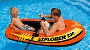 Надувная двухместная детская лодка интекс Intex 185х94х41 см,  от 8 лет