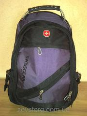 Рюкзак Swiss Gear черный-терракотовый