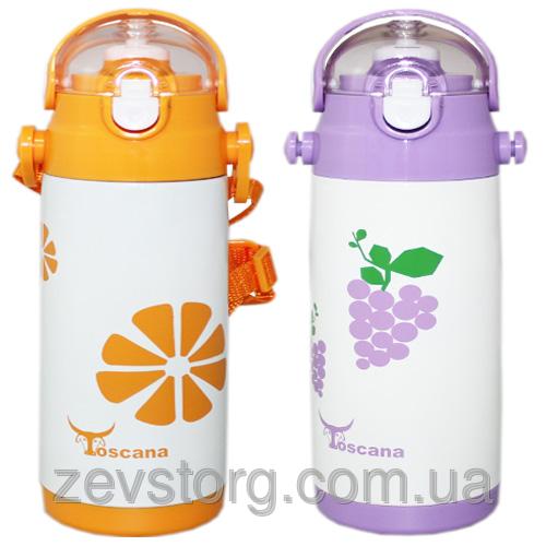 Термос детский с трубочкой Toscana 500 ml