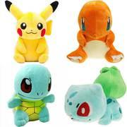 Покемоны игрушки,  купить покемона Пикачу,  Чермандер покемон,  Сквиртл,