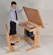 Стол-парта для детей Умничка со стулом