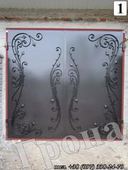 ворота гаражные металлические кованые