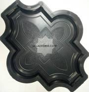 Формы для тротуарной плитки Клевер 2, 5 см узорный
